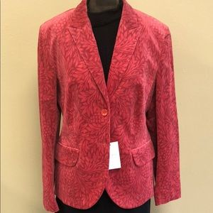 Escada sport NWT damask printed velvet blazer